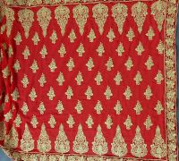 Cording + jari saree embroidery design