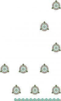 pallu lace saree embroidery design
