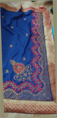 L pallu saree embroidery design