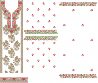 Suit & Penal Top Embroidery Design