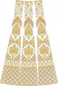 jari+chapat-bridel lehenga  kali design