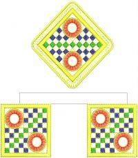 lace butaa saree embroidery design