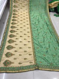 cut past saree embroidery design