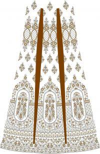 bridel lehenga  kali design