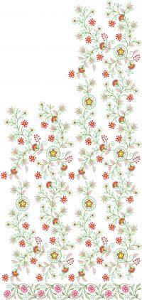 pallu jaal saree embroidery design