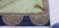 less boder saree embroidery design