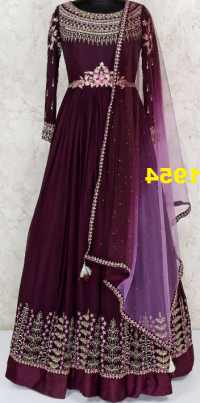 Anarkali Embroidery Design