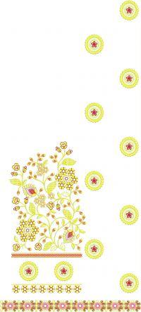 CUT-PEAST SAREE EMBROIDERY DESIGN