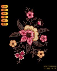 Creative Butto Embroidery Design