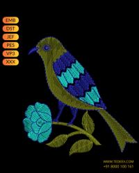 Figure Butta Embroidery Design