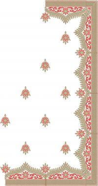 hand saree embroidery design