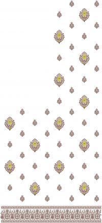 butta lace saree embroidery design