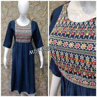 embroidery kurti design