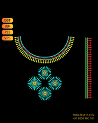 Bot Neck Embroidery Design