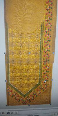 embroidery neck design