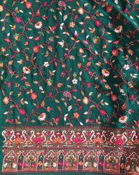kashmiri work saree embroidery design