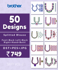 50 Blouse Designs pack for Brother Embroidery Machine