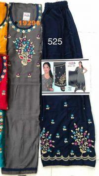 top & plazo embroidery design