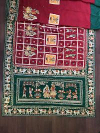 gujrat test new fhigurte  box pallu sarees design