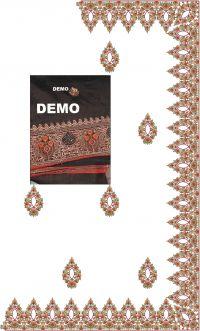 hot fix saree embroidery design