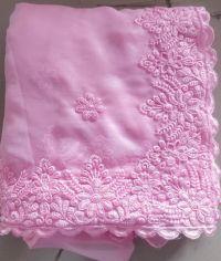 c pallu embroidery saree design