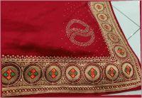 hot fix embroidery saree design