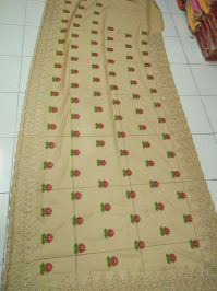 dhaga + hand embroidery saree