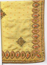 fom + hand embroidery saree design