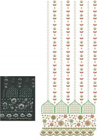 twin sequin 3+5 garment embroidery design
