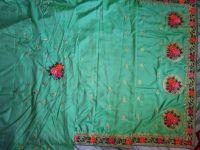 C pallu Bled cuting saree embroidery design