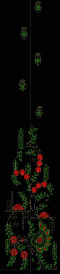 Garlish kali embroidery design