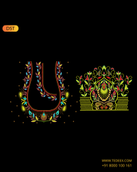 deep neck embroidery design