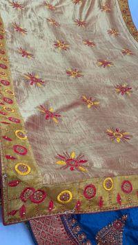 Pallu Skirt Lace Saree Embroidery Design