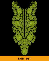 Flower Neck Embroidery Design