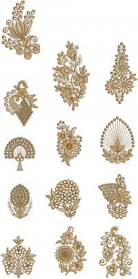12  Butta Embroidery design