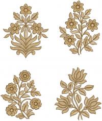 4 butta Embroidery Design