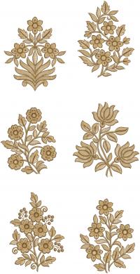 6 butta embroidery design