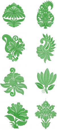 8 butta embroidery design