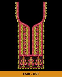 Square Neck Embroidery Design for Kurti