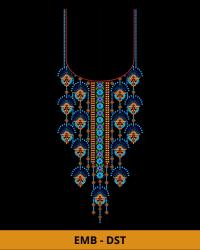 Fantastic Neck Embroidery Design for Dress