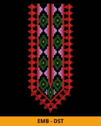 Fancy Neck Embroidery Design