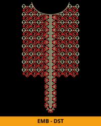 Unique Embroidery Neck Design