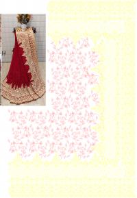 chain bridal saree embroidery design