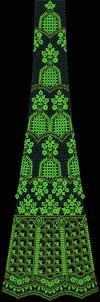velvet kali Embroidery design