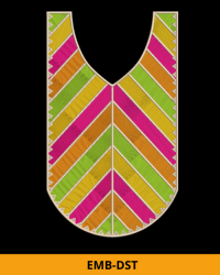 Simple Dress Neck Embroidery Design