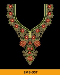 Embroidery Neck Design for Top