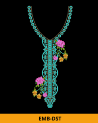 Awesome Design of Neck Embroidery