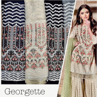 ALL OVER GEORGETTE DESIGN ONLY MULTY
